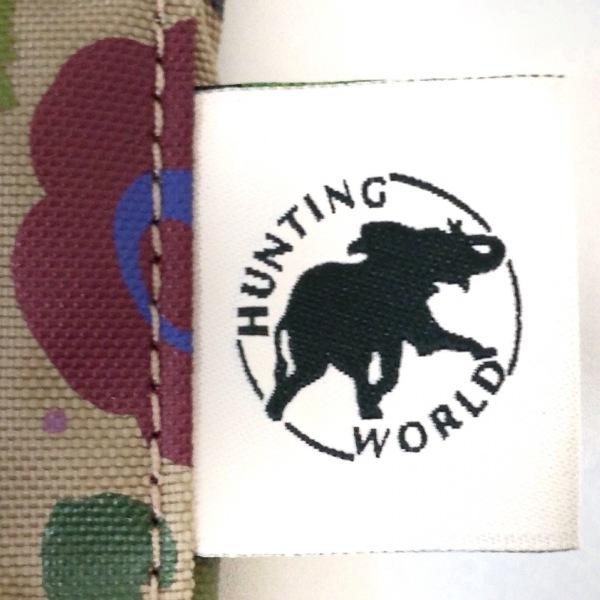 HUNTING WORLD(ハンティングワールド) ショルダーバッグ ベージュ×グリーン×マルチ