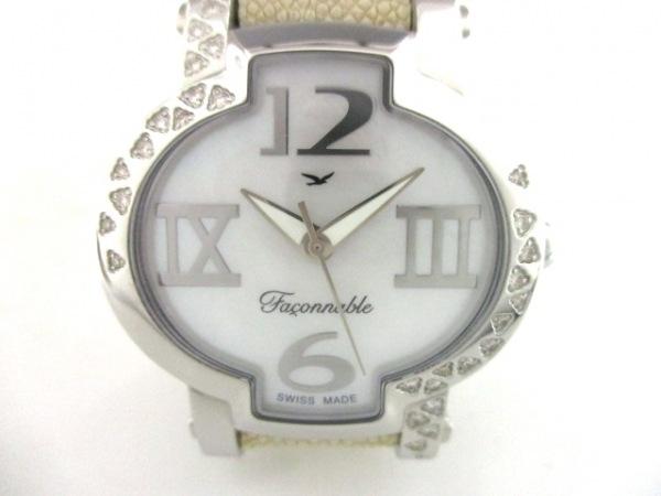 ファソナブル 腕時計美品  Lady Hydra FLHYD006779 レディース ホワイトシェル