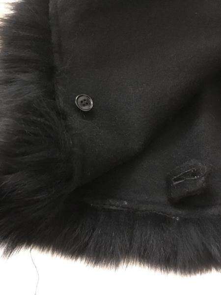 STRAWBERRY-FIELDS(ストロベリーフィールズ) ポンチョ レディース 黒 冬物/ファー