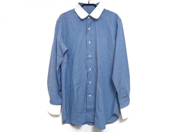 ORIAN(オリアン) 長袖シャツ サイズ42 L メンズ ブルー×白 ギンガムチェック