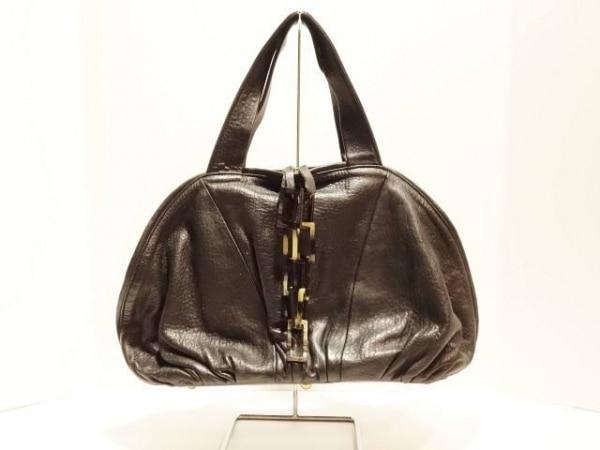 Cesaire(セゼール) ハンドバッグ美品  黒 レザー×プラスチック