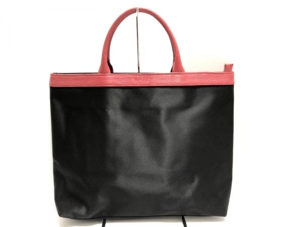 WAKO(ワコー) ハンドバッグ美品  黒×レッド ナイロン×レザー