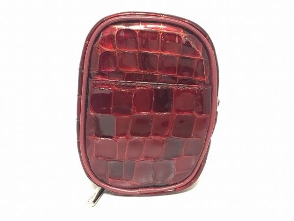 FRECCIA(フレッチャ) シガレットケース ボルドー 型押し加工 エナメル(レザー)