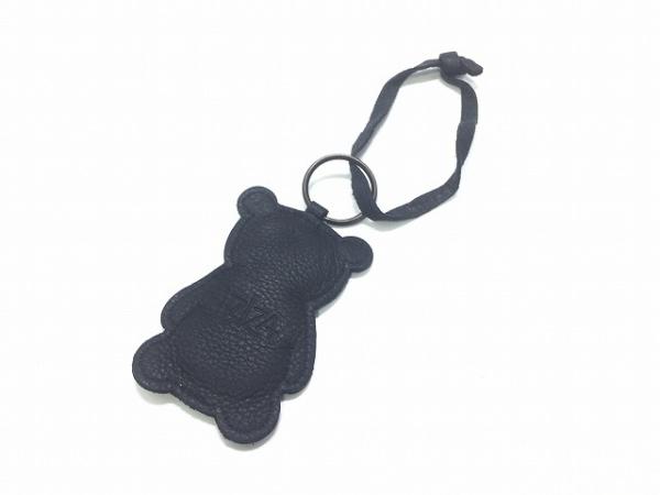 IBIZA(イビザ) キーホルダー(チャーム) 黒×アイボリー くま レザー
