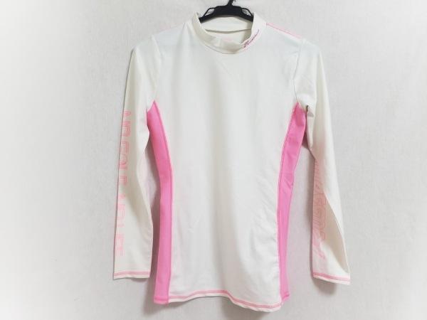 ラッセルノ 長袖カットソー サイズS レディース 白×ピンク ラッシュガード