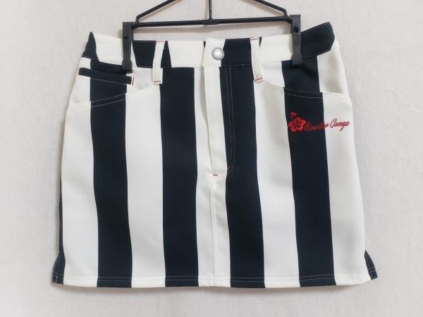 ラッセルノ ミニスカート サイズ0 XS レディース美品  白×黒×レッド ストライプ