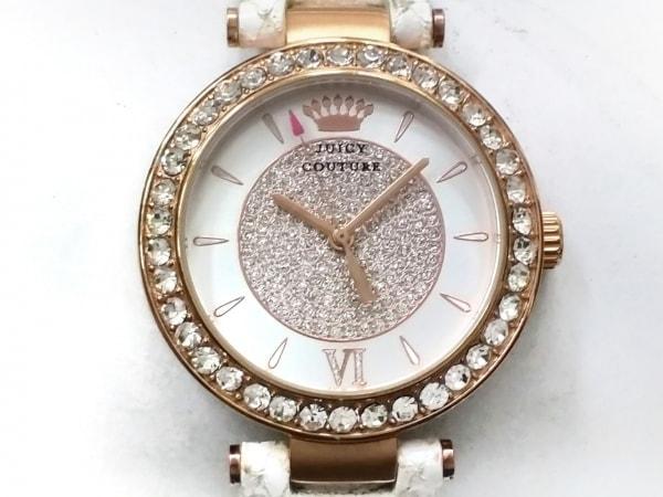 ジューシークチュール 腕時計 JC.87.3.34.0608S レディース 革ベルト/ラインストーン