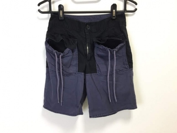 マークバイマークジェイコブス パンツ サイズ0 XS レディース パープル×黒