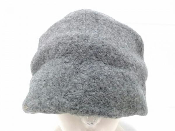 CA4LA(カシラ) 帽子 グレー ウール×ナイロン