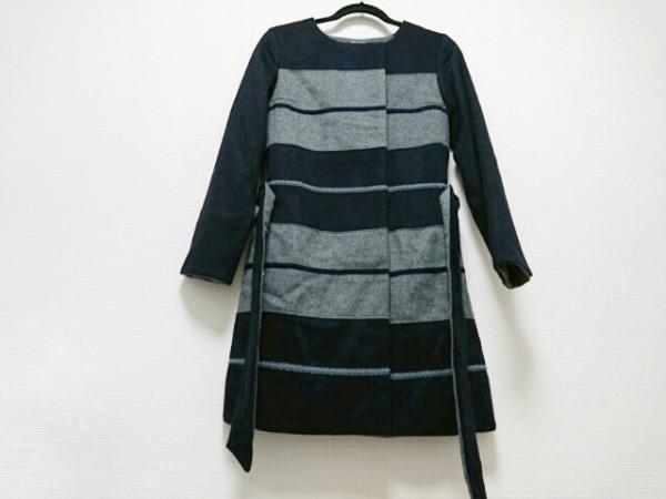 DOROA(ドロア) コート サイズ38 M レディース美品  黒×グレー 春・秋物