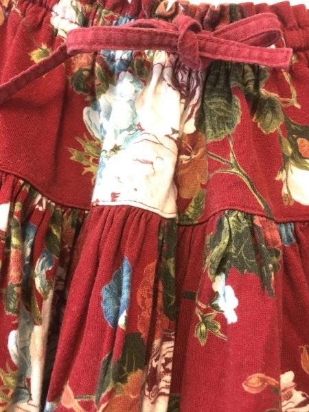 INGEBORG(インゲボルグ) スカートセットアップ レディース レッド×白×マルチ 花柄