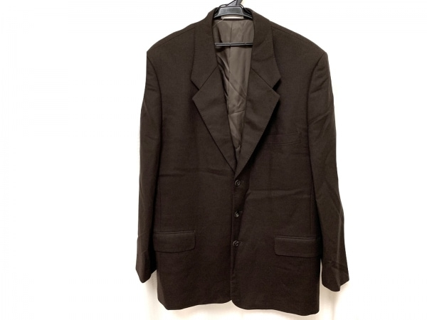 Papas(パパス) ジャケット サイズ52 メンズ新品同様  ダークブラウン 肩パッド