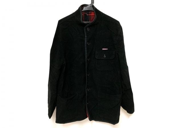 Papas(パパス) ジャケット サイズ48 XL メンズ美品  黒 ハイネック