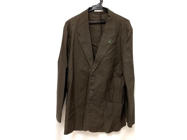 Papas(パパス) ジャケット サイズ50 メンズ美品  ダークブラウン 麻混