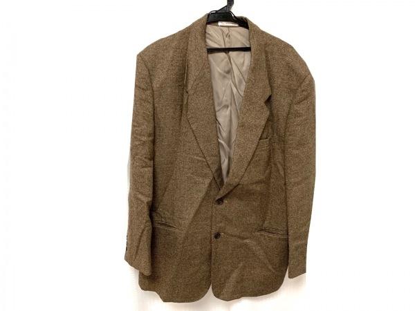 Papas(パパス) ジャケット サイズ48 XL メンズ新品同様  ベージュ×ブラウン 肩パッド