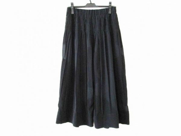 NOKO OHNO(ノコオーノ) パンツ サイズ40 M レディース 黒 シワ加工/シースルー