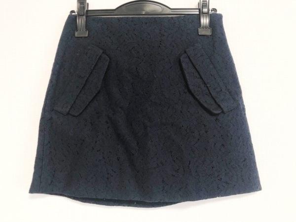 ヌメロ ヴェントゥーノ ミニスカート サイズ36 S レディース美品  ダークネイビー