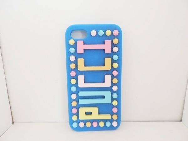 EMILIO PUCCI(エミリオプッチ) 携帯電話ケース ブルー×ピンク×マルチ ラバー