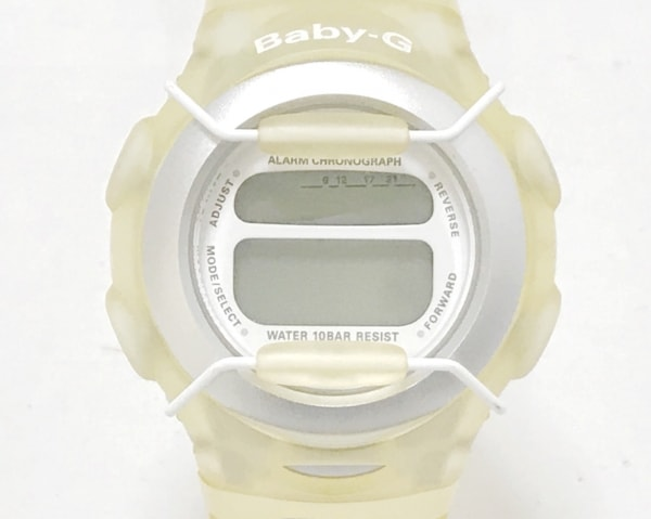 CASIO(カシオ) 腕時計 Baby-G File BG-380 レディース ラバーベルト 白