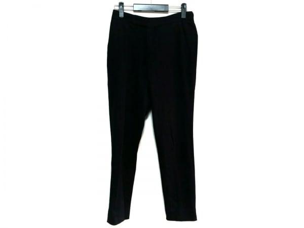 トゥモローランド パンツ サイズ46 XL レディース美品  黒×ダークグレー ストライプ