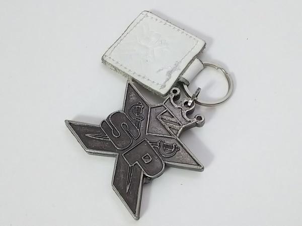 SPX(エスピーエックス) キーホルダー(チャーム) シルバー×白 金属素材×レザー