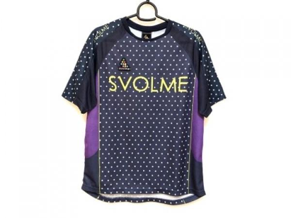 スボルメ 半袖Tシャツ サイズM レディース美品  ダークネイビー×パープル×マルチ