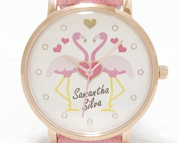 Samantha silva(サマンサシルヴァ) 腕時計 - レディース 白×ピンク×イエロー