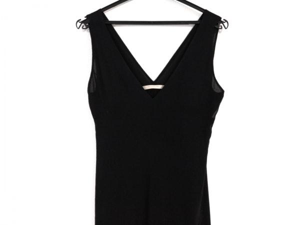 バレンチノローマ ドレス サイズ38/4 レディース美品  黒 シルク/フリル