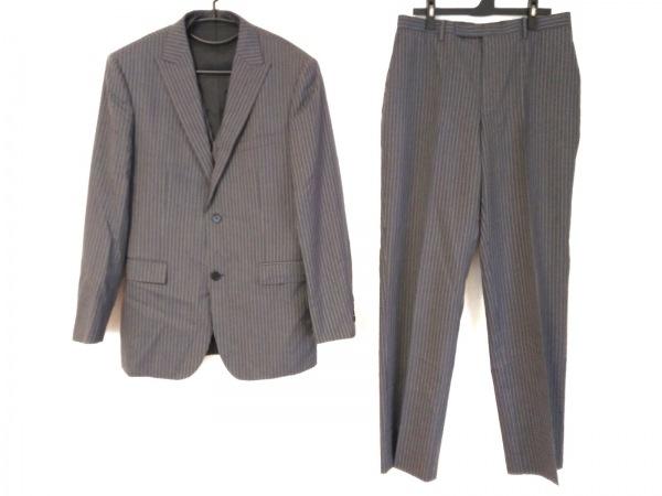 バーバリーブラックレーベル シングルスーツ メンズ グレー×ピンク
