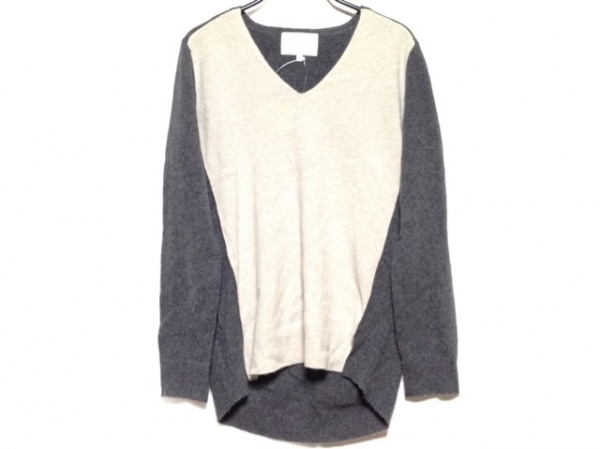 BEIGE(ベイジ) 長袖セーター サイズ4 XL レディース ダークグレー×ライトグレー