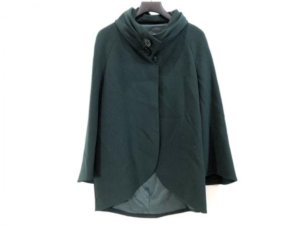 ウンガロフューシャ コート サイズ40(I) M レディース美品  ダークグリーン 冬物