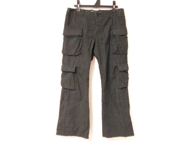 ダイエットブッチャースリムスキン パンツ メンズ 黒×ライトグレー ストライプ