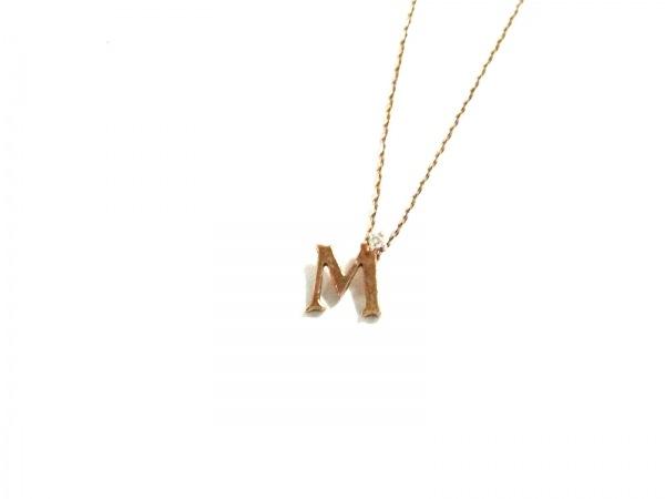 ete(エテ) ネックレス  K10×ダイヤモンド K10YG イニシャルモチーフ/1Pダイヤ