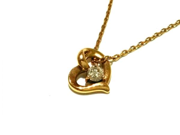 ノーブランド ネックレス美品  2996 0.9 K18×ダイヤモンド クリア 総重量1.3g