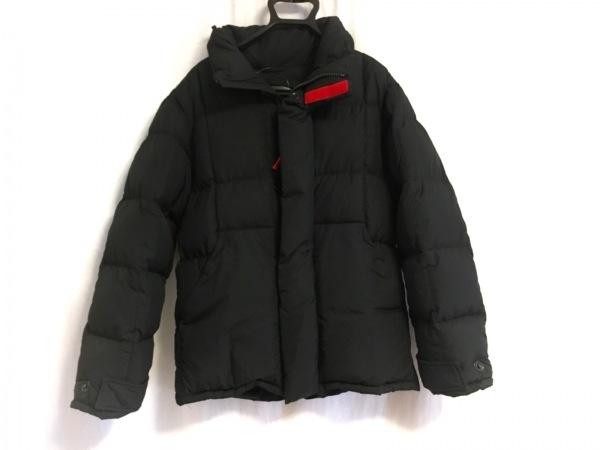 プラダスポーツ ダウンジャケット メンズ 黒 フード収納/ジップアップ/冬物
