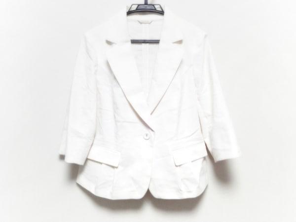 ローズティアラ ジャケット サイズ42 L レディース美品  アイボリー リボン