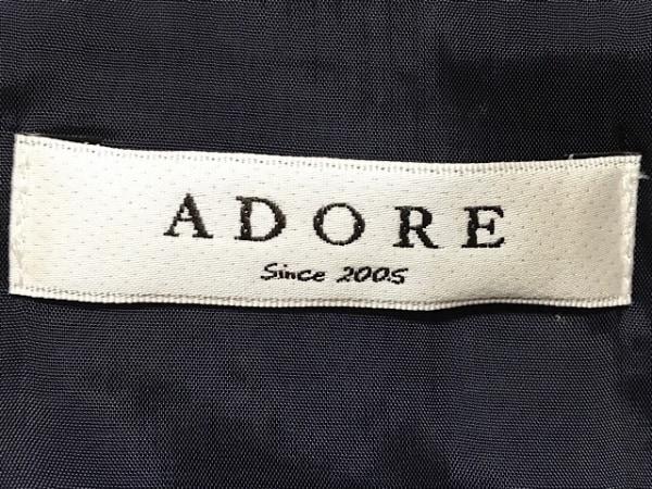 ADORE(アドーア) ワンピース サイズ38 M レディース ダークネイビー×白 ボーダー