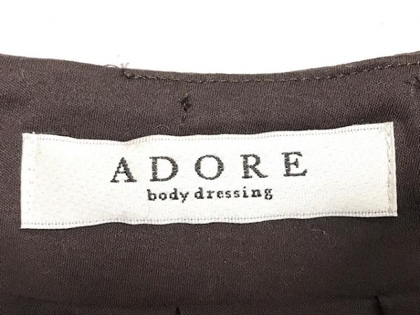 アドーア ワンピース サイズ38 M レディース美品  ダークブラウン body dressing