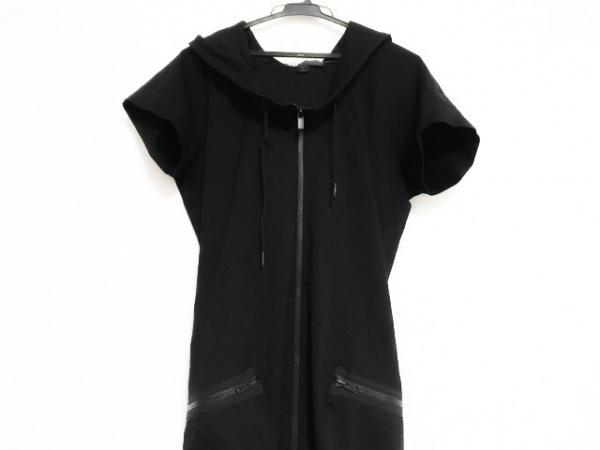 Y-3(ワイスリー) ワンピース サイズS レディース美品  黒 adidas/ジップアップ