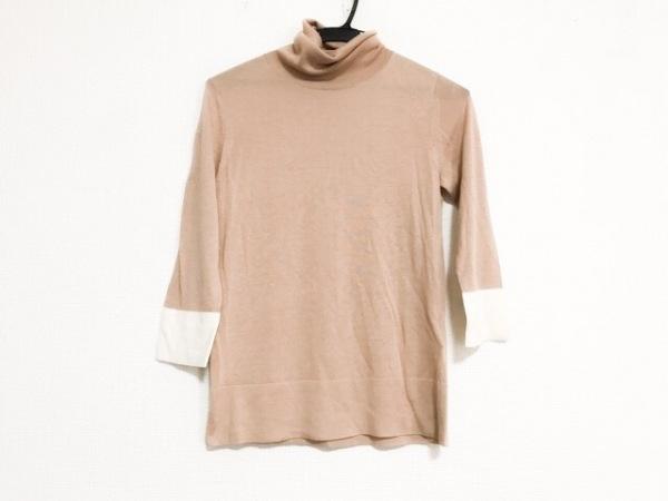 theory(セオリー) 長袖セーター サイズ2 S レディース美品  ベージュ×アイボリー