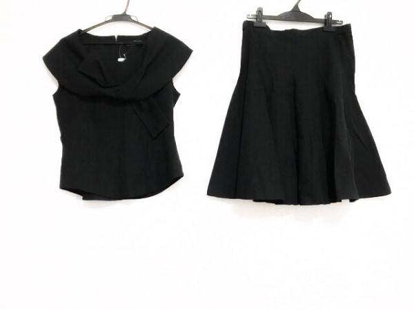 MADAME HIROKO(マダムヒロコ) スカートセットアップ サイズ11AR M レディース美品  黒