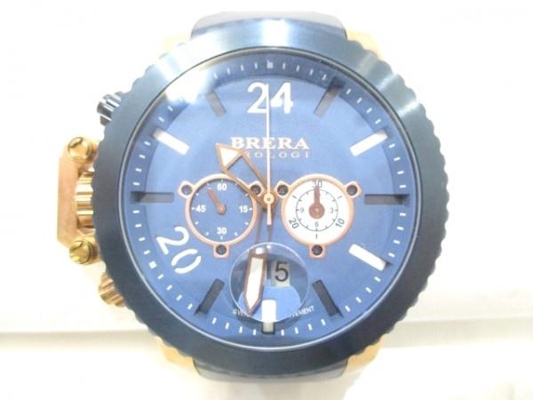 BRERA OROLOGI(ブレラオロロジ) 腕時計美品  ミリターレ BRML2C48 メンズ ネイビー