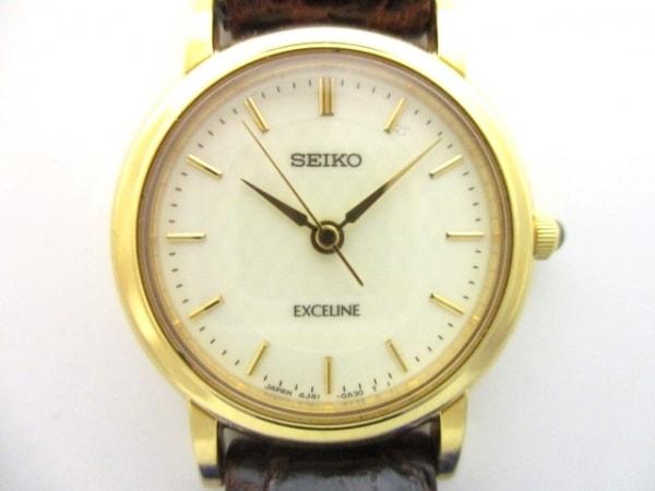 SEIKO(セイコー) 腕時計 EXCELINE 4J41-0A40 レディース 白