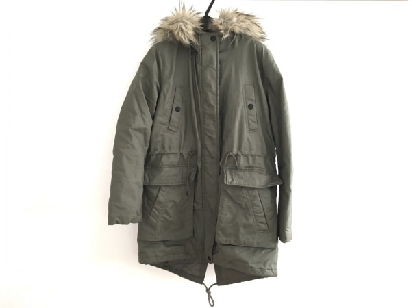 アメリカンイーグル コート サイズS メンズ カーキ 冬物/フェイクファー