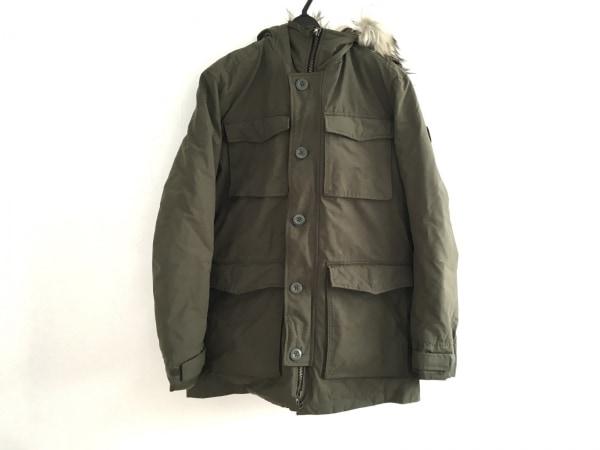 アメリカンイーグル コート サイズM メンズ美品  カーキ 冬物/フェイクファー