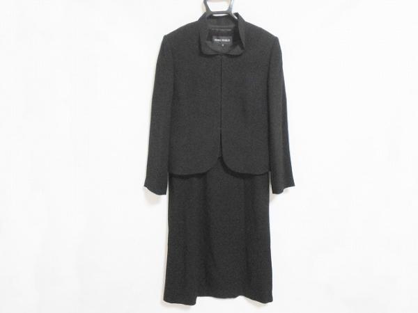 SOIR PERLE(ソワール ペルル) ワンピーススーツ サイズ9 M レディース美品  黒