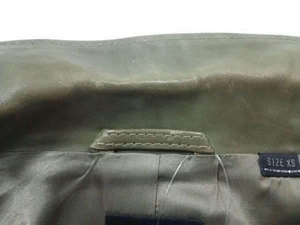 3b9ef88270f9 ... ディーゼル ライダースジャケット サイズXS レディース カーキ 春・秋物/部分レザー