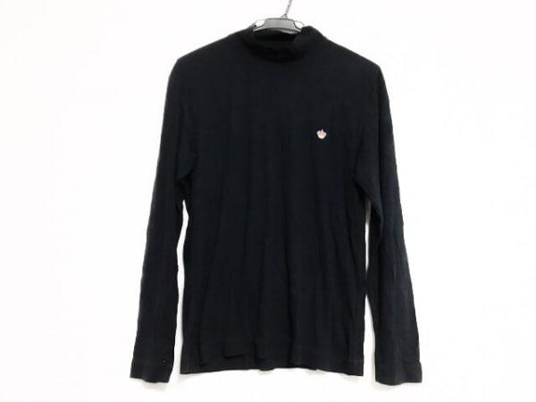 Papas(パパス) 長袖セーター サイズ48M メンズ 黒 ハイネック
