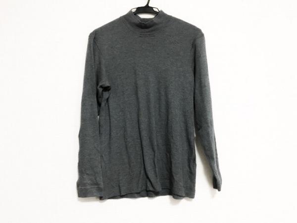 Papas(パパス) 長袖セーター サイズ46S メンズ美品  グレー ハイネック