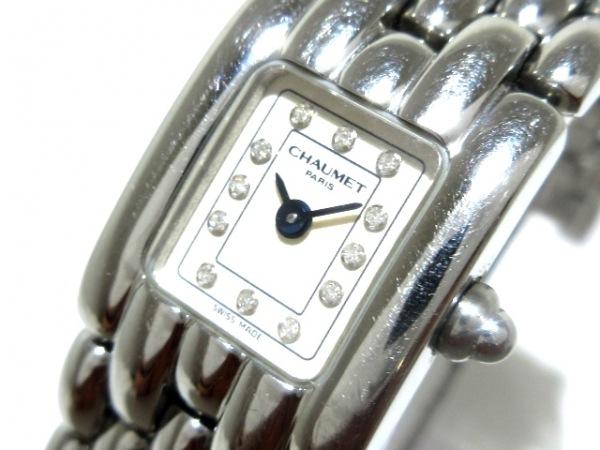 ショーメ 腕時計 etanche 30m - レディース 12Pダイヤインデックス アイボリー